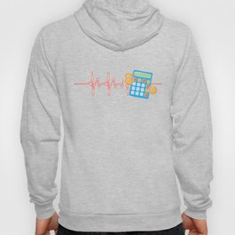 Accountant Heartbeat Accounting Practitioner Profession Financial Tax Advisor Gift Hoody
