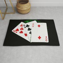 Blackjack Card Game, 21 Count, Ten Nine Two Combination Rug