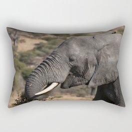 Elephant Detail II Rectangular Pillow