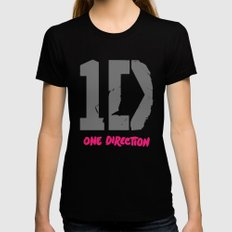 1 Direction MEDIUM Black Womens Fitted Tee