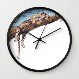 cool cheetah Wall Clock