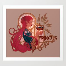 Enby royalty -  Princus Art Print