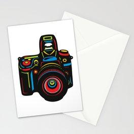 Black Camera Stationery Cards