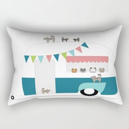 Happy Camper Kitties Rectangular Pillow