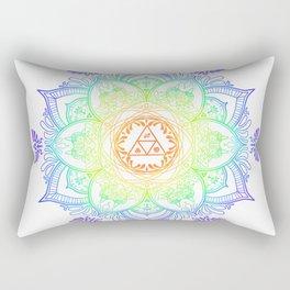 Rainbow Zelda Mandala Rectangular Pillow