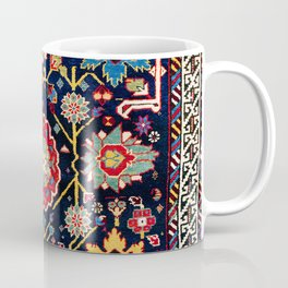 Shirvan Caucasian Afshan Antique Rug Print Coffee Mug