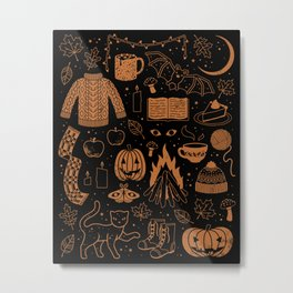 Autumn Nights: Halloween Metal Print