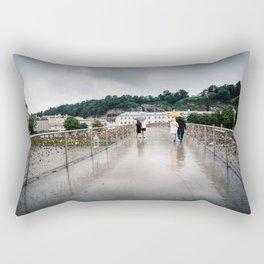 Padlock bridge in Salzburg Rectangular Pillow