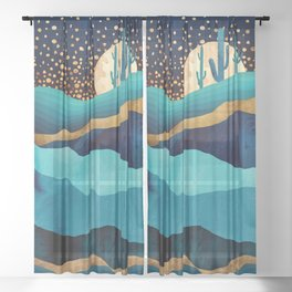 Indigo Desert Night Sheer Curtain