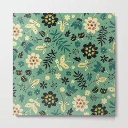 As flores do seu jardim Metal Print