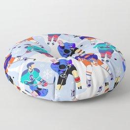 Ice Hockey print 001 Floor Pillow