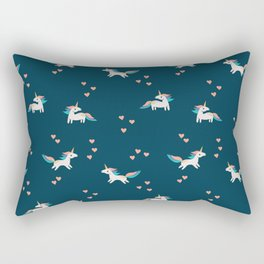 Valentine Unicorns Rectangular Pillow