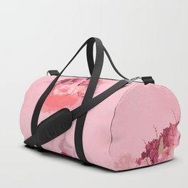 Woman in flowers Duffle Bag