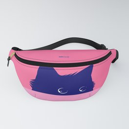 Cat on Deep Pink Fanny Pack