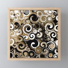 Coffee Swirls Framed Mini Art Print