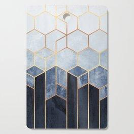 Soft Blue Hexagons Cutting Board