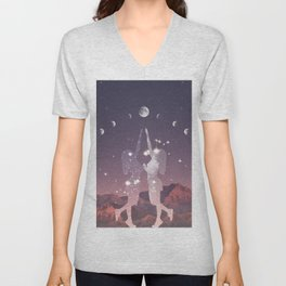 REACHING FOR THE MOON Unisex V-Neck