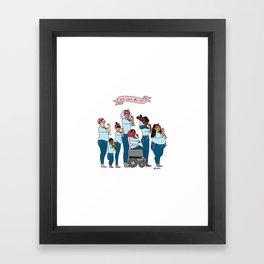 Intersectional Rosie the Riveter Framed Art Print