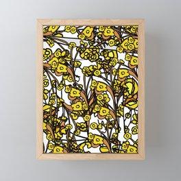 Golden Floral Framed Mini Art Print