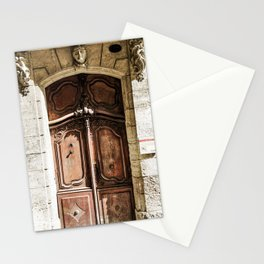 Doorway | Hotel de La Grange Nimes France Vintage Rustic Old World Desaturated Architecture Stationery Cards