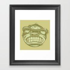 Monkey face Framed Art Print