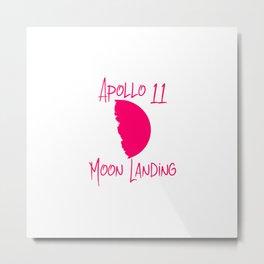 Apollo 11 Moon Landing Fun 1969 50th Anniversary Metal Print