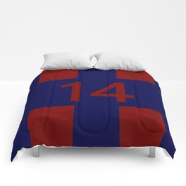 Legendary No. 14 in red and blue Comforters