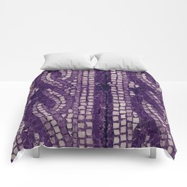 stone tile 4378 ultra violet Comforters