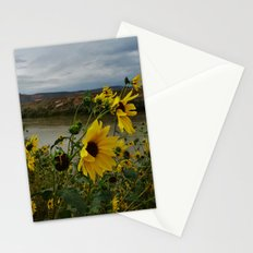 Yellow Flowers Before the Storm Stationery Cards