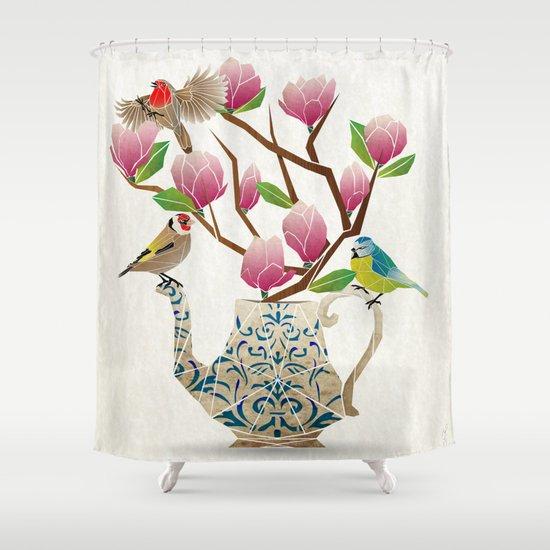 tea time! Shower Curtain