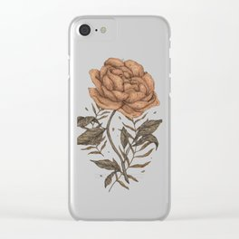 Peony and Ferns Clear iPhone Case