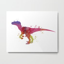 Velociraptor Metal Print