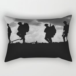 Soldier Silhouettes - Battle of Broodseinde Rectangular Pillow