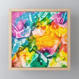 Rainbow Abstract #7 Framed Mini Art Print
