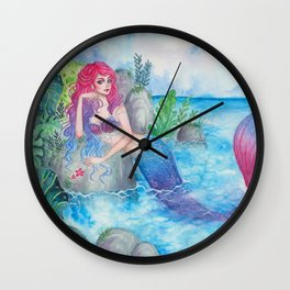 Mermaid Lagoon Wall Clock