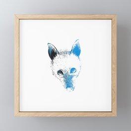 Flying fox face Framed Mini Art Print
