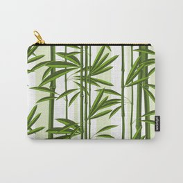 Green bamboo tree shoots pattern Carry-All Pouch