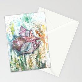 Seashells Art Illustration Stationery Cards
