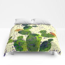 weird cactus Comforters
