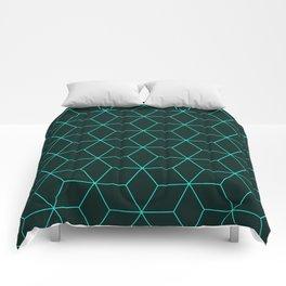 Cube Pattern 01 Green Comforters