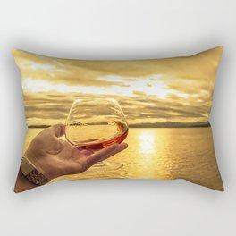 Cognac Sunset Swirl Rectangular Pillow