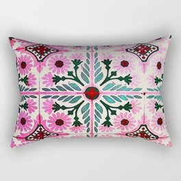 Pink Morrocan tiles in watercolor Rectangular Pillow