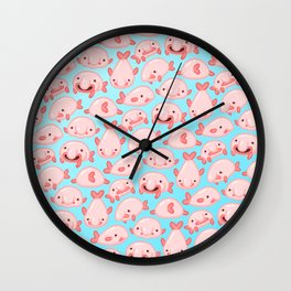 Blobfish Pattern Wall Clock