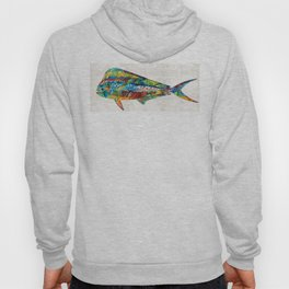 Colorful Dolphin Fish by Sharon Cummings Hoody