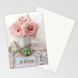 Shabby Chic Cottage Roses Love Vintage Spoon Prints Home Decor Stationery Cards