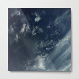 Cloud and sky 12 -cloud, sky, blue, positive,optimism Metal Print