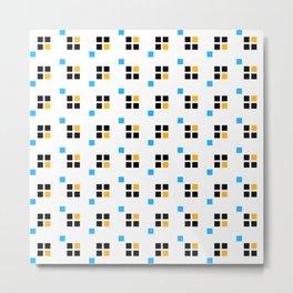 Three color enlarged pixel pattern Metal Print