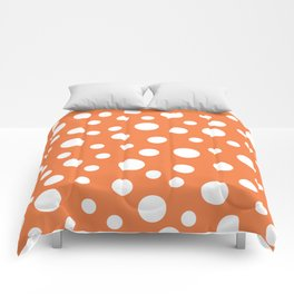 Crazy Dots: ORANGE Comforters