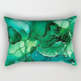 Into the Depths of Sea Green Mysteries Rectangular Pillow