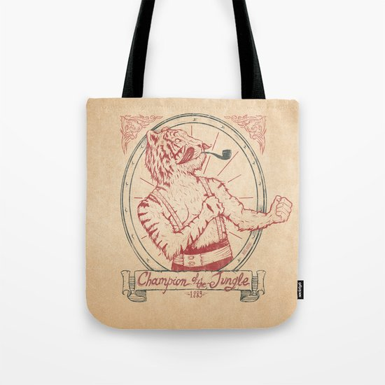 Champion of the Jungle Tote Bag